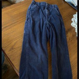 Young boys blue corduroy pants